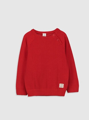 Red - Boys` Pullover