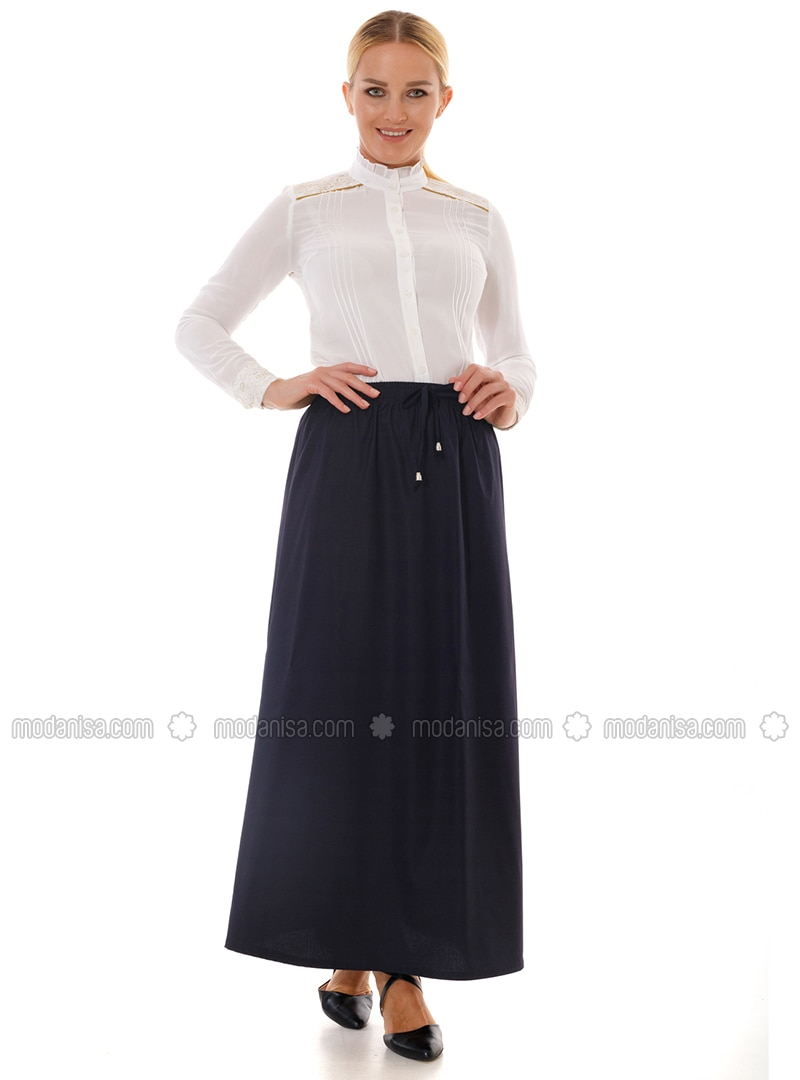 Navy Blue -  - Skirt