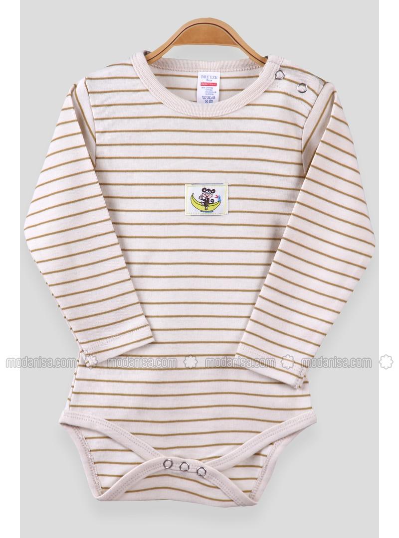 Cream - baby bodysuits