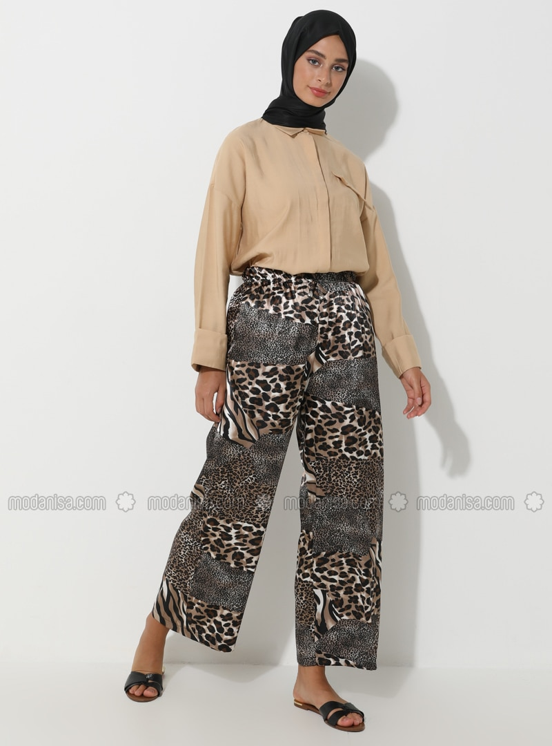 Brown - Black - Leopard - Pants