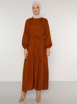Cinnamon - Crew neck - Unlined - Dress