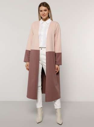 Purple - Powder - Unlined -  - Plus Size Coat