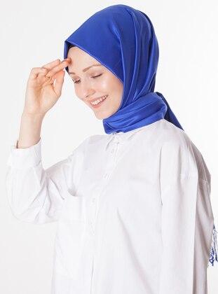 Saxe - Plain - %100 Silk - Shawl