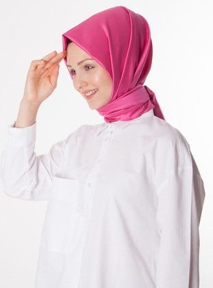 Pink - Plain - %100 Silk - Shawl