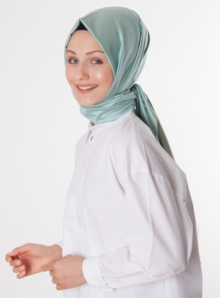 Sea-green - Plain - %100 Silk - Shawl