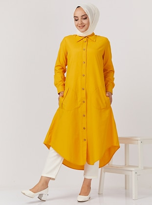 Yellow - Unlined - Point Collar -  - Topcoat