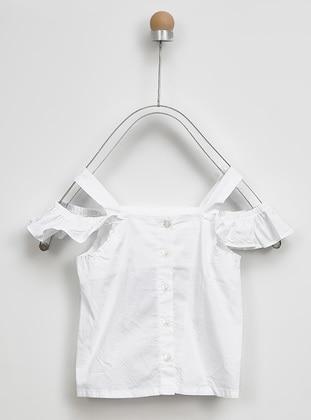 Point Collar - - Ecru - Girls` Shirt