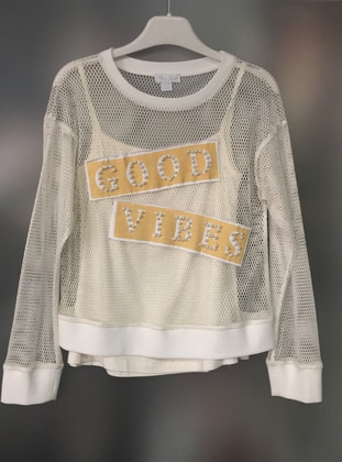 Multi - Ecru - Girls` Sweatshirt
