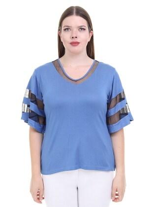 Blue - Plus Size Blouse