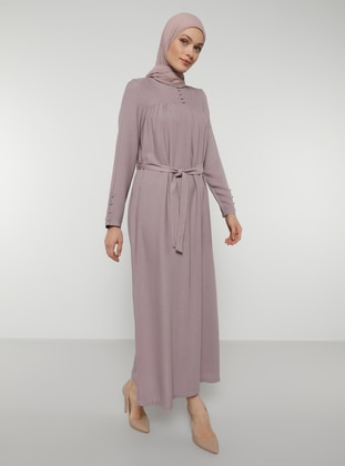 Lilac - Purple - Crew neck - Unlined - Dress