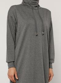 - Polo neck - Anthracite - Sweat-shirt - Everyday Basic
