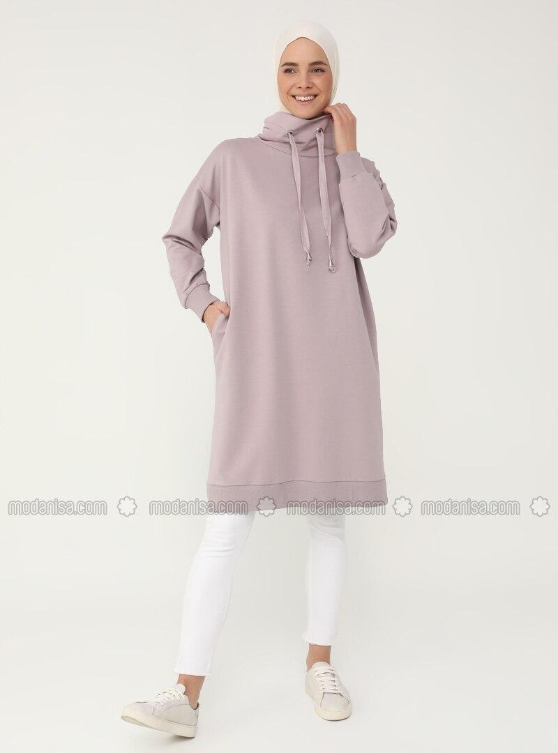 - Polo neck - Pink - Sweat-shirt - Everyday Basic