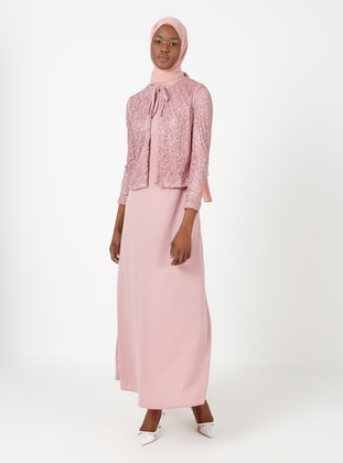 Unlined - Dusty Rose - Crew neck - Evening Suit