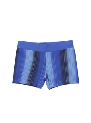 Multi - Unlined - Blue - Boys` Swimsuit