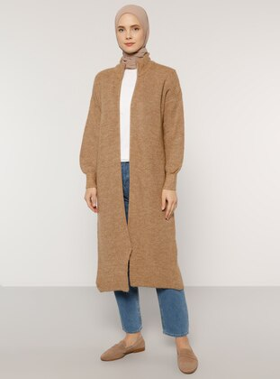 Camel - Polo neck - Acrylic -  - Cardigan