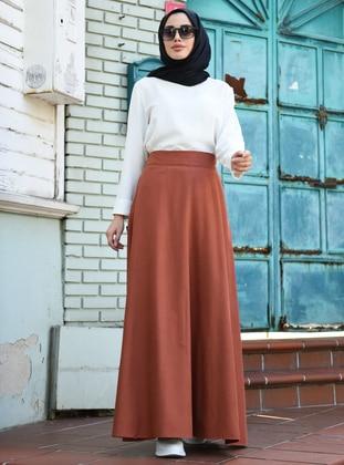 Tan - Unlined - Skirt
