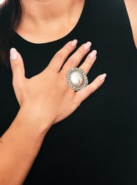 Silver tone - Ring