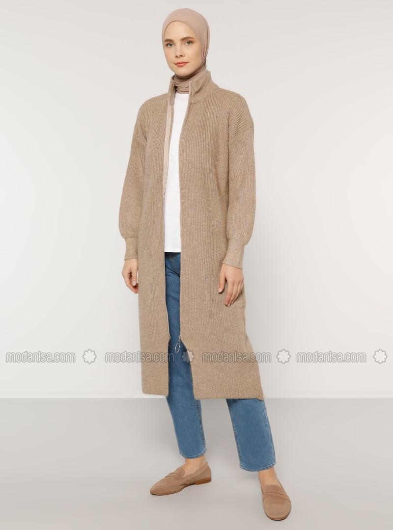 Mink - Polo neck - Acrylic - - Cardigan