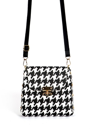 White - Black - Satchel - Shoulder Bags