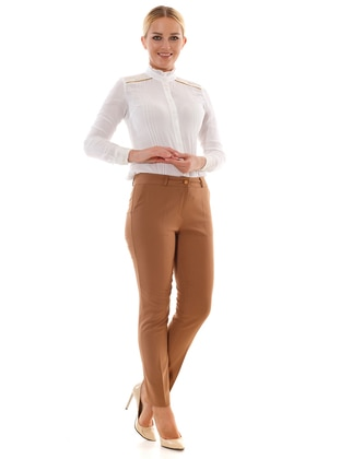Brown -  - Pants