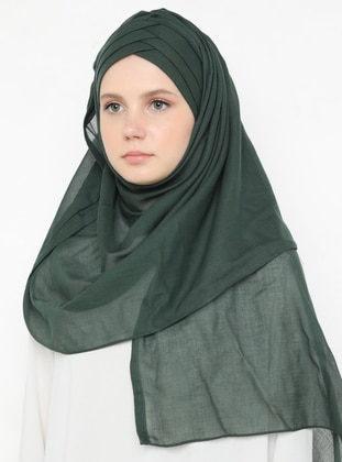 Petrol - Green - Plain - Cotton - Instant Scarf