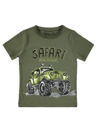 Khaki - Boys` T-Shirt - Civil