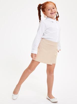 Beige - Girls` Skirt - DeFacto