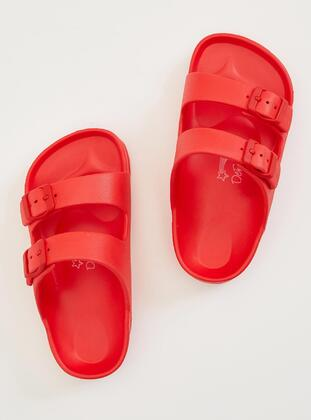 Red - Girls` Slippers - DeFacto