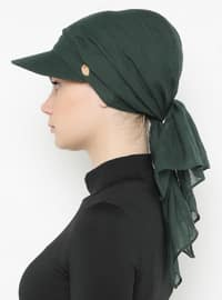 Petrol - Green - Plain - Pinless -  - Instant Scarf