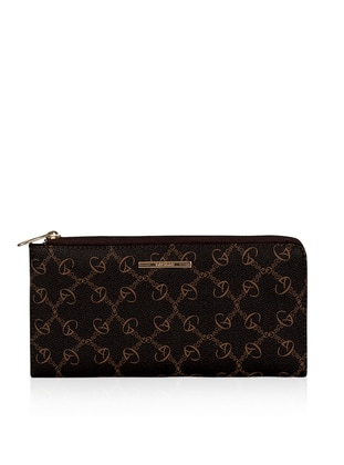 Brown - Clutch - Wallet