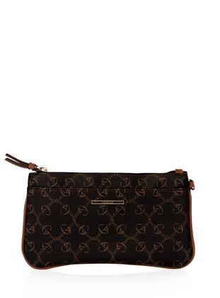 Brown - Tan - Clutch - Wallet