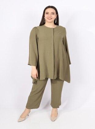 Khaki - Plus Size Suit