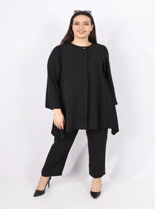 Black - Plus Size Suit