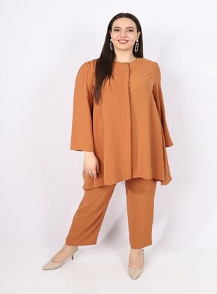 Tan - Plus Size Suit