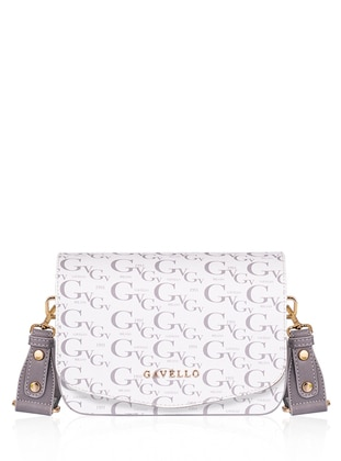 White - Gray - Satchel - Shoulder Bags