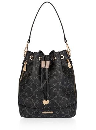 Silver - Black - Satchel - Shoulder Bags
