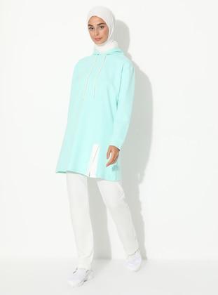 Ecru - Sea-green -  - Tracksuit Set