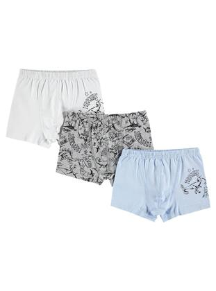 Gray - Kids Underwear - Civil