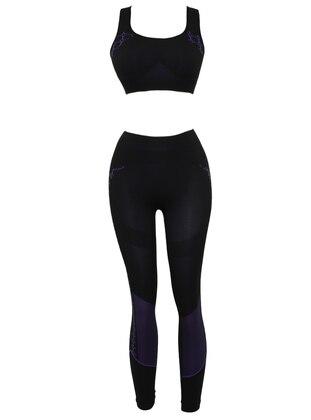 Purple - Black - Legging
