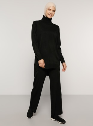 Black - Unlined - Acrylic -  - Knit Suits - Everyday Basic