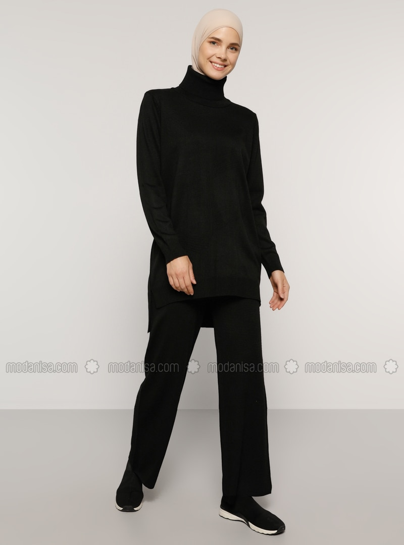 Black - Unlined - Acrylic -  - Knit Suits