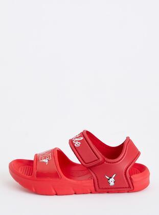 Red - Girls` Sandals