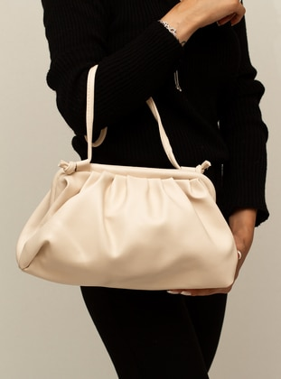 Cream - Crossbody - Satchel - Shoulder Bags