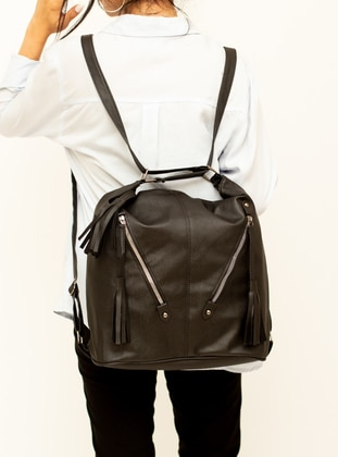 Black - Satchel - Backpack - Shoulder Bags