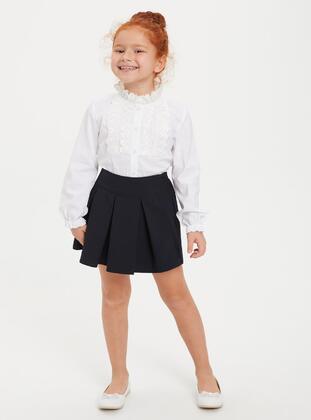 Navy Blue - Girls` Skirt - DeFacto