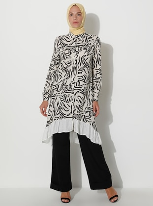 White - Multi - Point Collar - Tunic