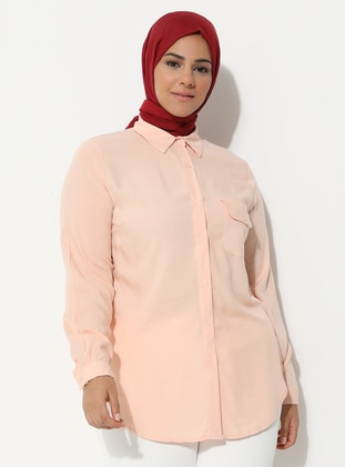 Powder - Point Collar - Plus Size Tunic