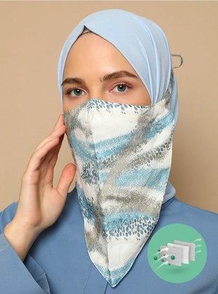 Multi - Printed - Cotton - - Instant Scarf - Maske