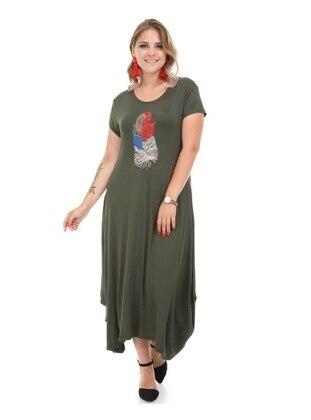 Green - Plus Size Dress