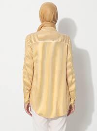 Yellow - Stripe - Point Collar - Tunic